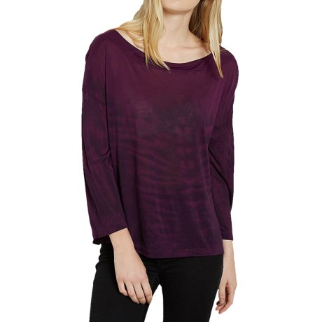 Threads 4 Thought Reni Dip-Dyed Shirt - Boat Neck, Long Sleeve (For Women)