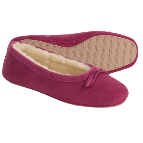 Acorn Ballet Sheepskin Slippers (For Women)
