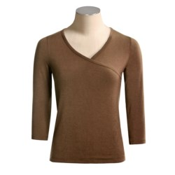 BambooDreams by Dreamsacks Journey Crossover Shirt - ¾ Sleeve (For Women)