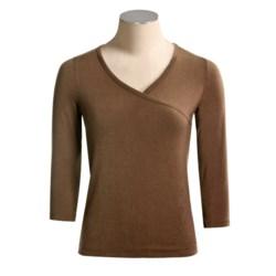 Yala BambooDreams by Dreamsacks Journey Crossover Shirt - ¾ Sleeve (For Women)