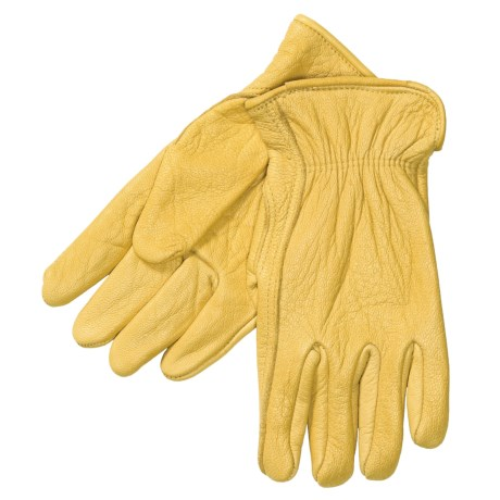 North American Trading Work Gloves - Elkskin Leather (For Men)