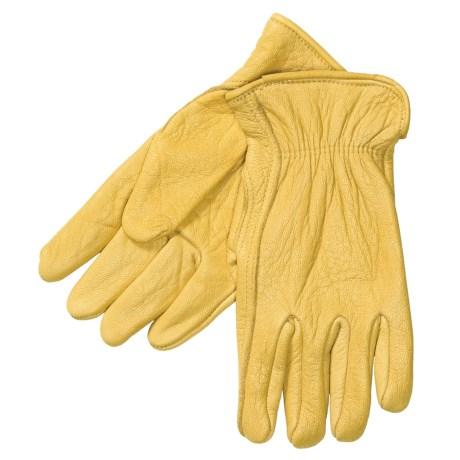 North American Trading Work Gloves - Elkskin Leather (For Men)