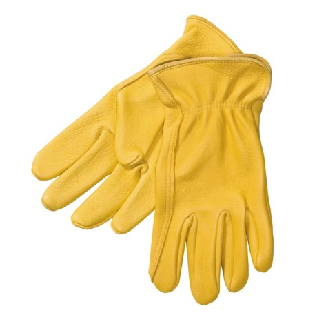 North American Trading Work Gloves - Deerskin Leather (For Men)