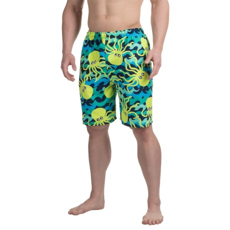 Specially made Northwest Blue Printed Swim Trunks (For Men)