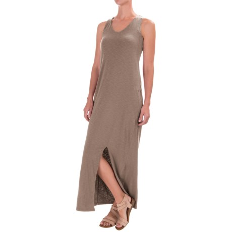 Artisan NY Cotton Racerback Maxi Dress - V-Neck, Sleeveless (For Women)