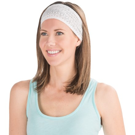 PRANA BURNOUT HEADBAND - RECYCLED POLYESTER (For Women) in White - Closeouts