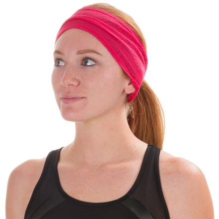 PRANA BURNOUT HEADBAND - RECYCLED POLYESTER (For Women) in Cosmo Pink - Closeouts
