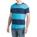 Specially made Bold Striped T-Shirt - Short Sleeve (For Men)