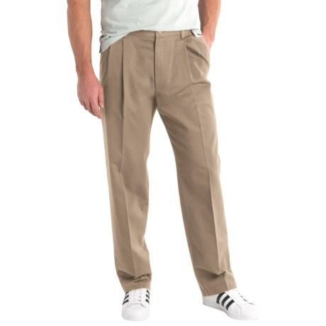Specially made Solid Twill Pants - Pleated Front (For Men)