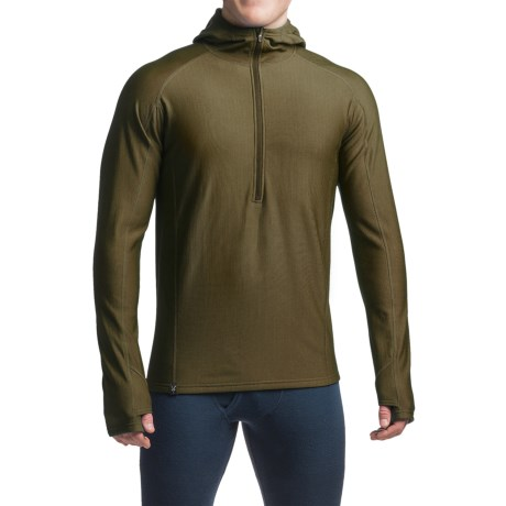 Ibex Woolies 3 Base Layer Hoodie - Merino Wool, Zip Neck (For Men)