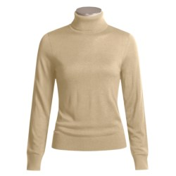 August Silk Warm Hand Turtleneck - Long Sleeve (For Women)