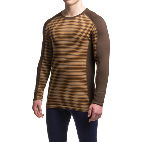Ibex Woolies 2 Striped Base Layer Top - Merino Wool, Crew Neck, Long Sleeve (For Men)