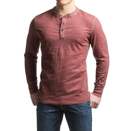 True Grit Twisted Heather Henley Shirt - Long Sleeve (For Men)