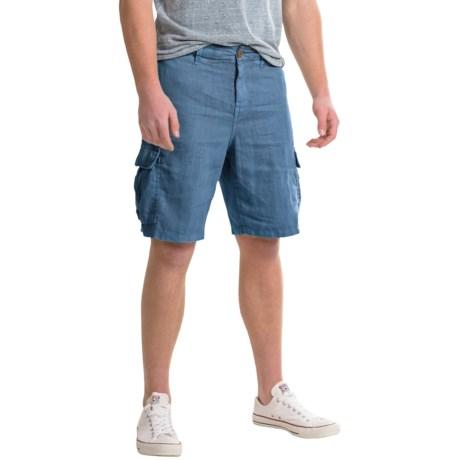 True Grit Sunset Cargo Shorts - Linen (For Men)