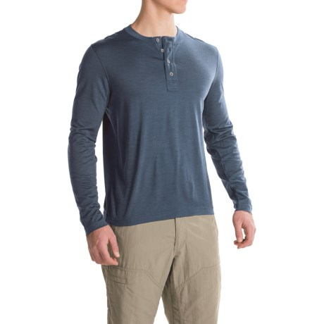Ibex OD Henley Shirt - Merino Wool, Long Sleeve  (For Men)
