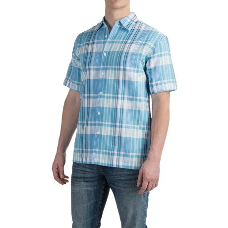 Specially made Printed Button-Up Shirt - Short Sleeve (For Men)