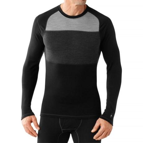 SmartWool NTS 250 Color-Block Base Layer Top - Merino Wool (For Men)