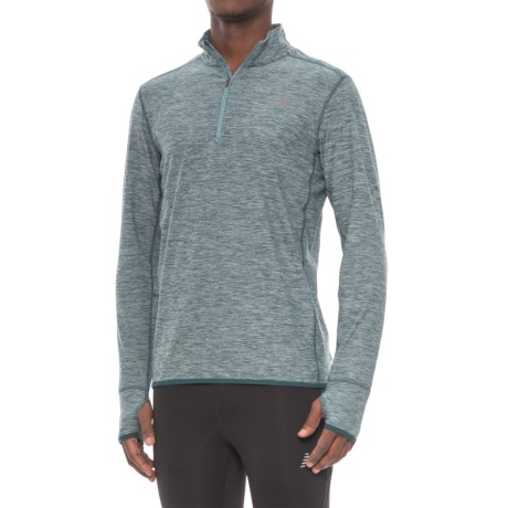 New Balance N Transit Shirt - Zip Neck, Long Sleeve (For Men)