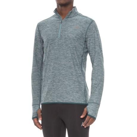 New Balance N Transit Shirt - Zip Neck, Long Sleeve (For Men)