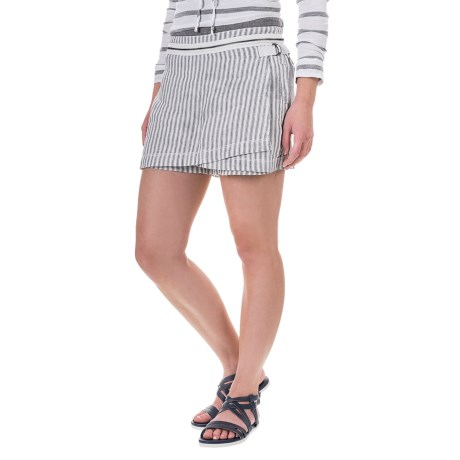 Marrakech Canary Linen Skort (For Women)