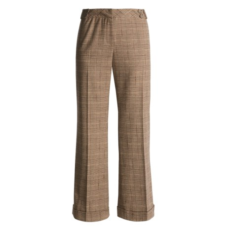 Austin Reed Black Label Pants - Royal Plaid, Cuffed (For Women)