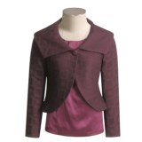 Austin Reed Square-Weave Jacket - Portrait Collar (For Women)