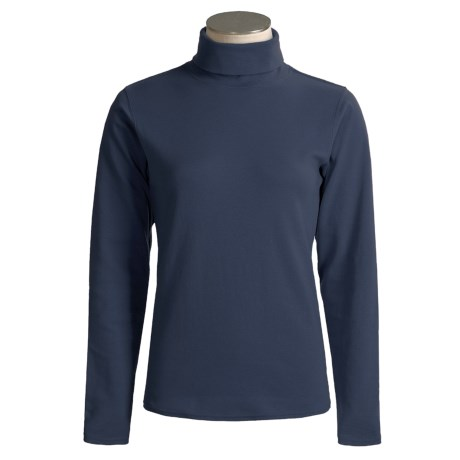 Kombi Combed Cotton Turtleneck - Long Sleeve (For Women)