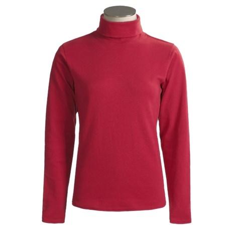 Kombi Combed Cotton Turtleneck - Long Sleeve (For Women)