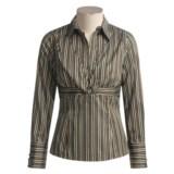 Eye Cotton Stripe Shirt - Long Sleeve (For Women)