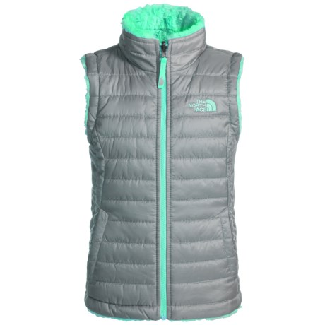 The North Face Reversible Mossbud Swirl Vest - Insulated (For Little and Big Girls)
