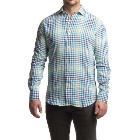 Robert Talbott Crespi III Check Sport Shirt - Linen, Trim Fit, Long Sleeve (For Men)