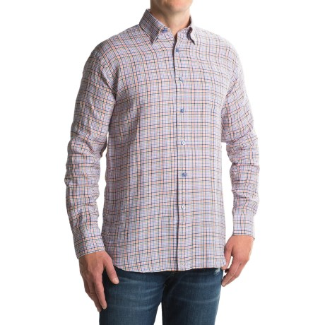 Robert Talbott Anderson II Plaid Sport Shirt - Linen, Long Sleeve (For Men)