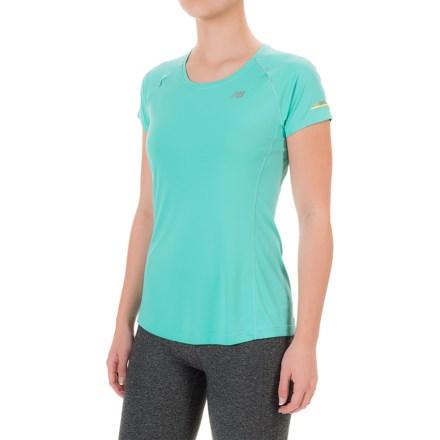 New Balance NB Ice Shirt - Short Sleeve (For Women) in Aquarius - Closeouts