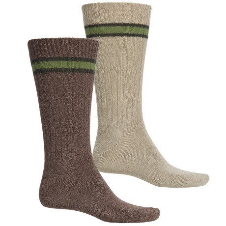 Lorenzo Uomo Outdoor Adventure Socks - 2-Pack, Crew (For Men)