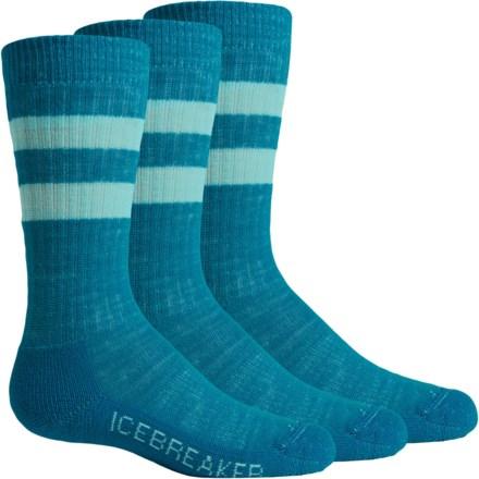 Icebreaker Hike Light Socks - 3-Pack, Merino Wool, Crew (For Little and Big Kids) in Cruise/Teardrop - Closeouts