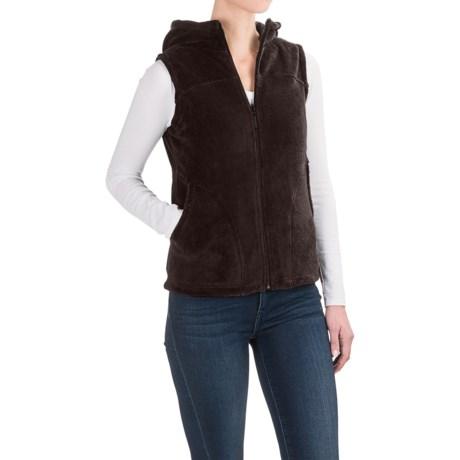 White Sierra Cozy Fleece Vest - Hooded (For Women)
