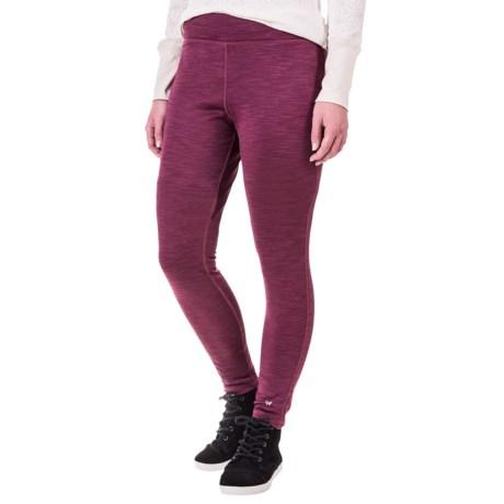 White Sierra Space-Dyed Fleece Leggings (For Women)