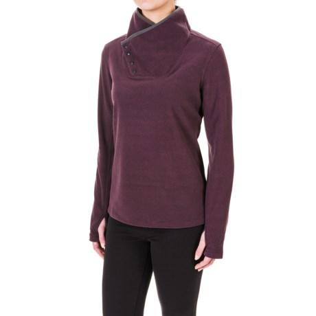 White Sierra Blacktail Fleece Shirt - Snap Neck, Long Sleeve (For Women)