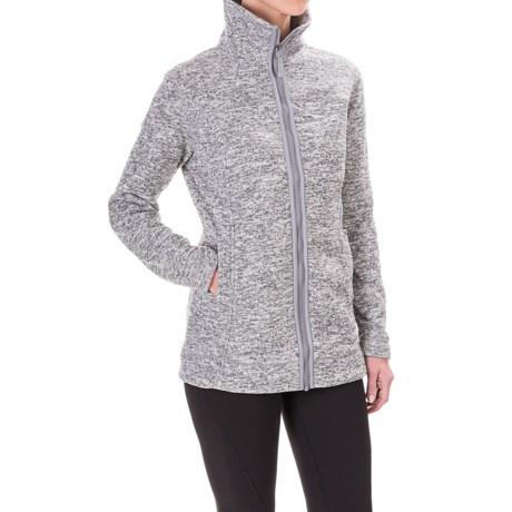 White Sierra Adventure Fleece Long Jacket (For Women)