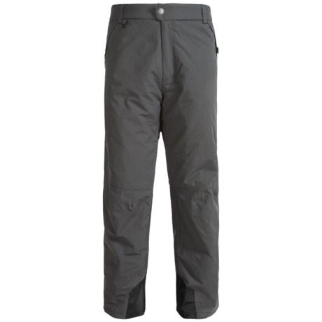 White Sierra Toboggan Snow Pants - Insulated (For Big Men)