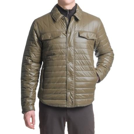 White Sierra Zephyr Quilted Shirt Jacket (For Men)