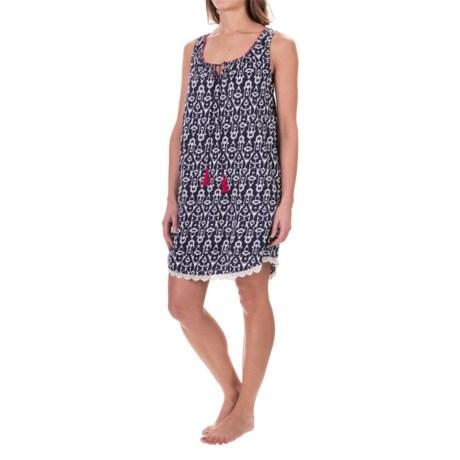 Lucky Sleepwear Lucky Brand Sleepwear Cotton Nightgown - Sleeveless (For Women)