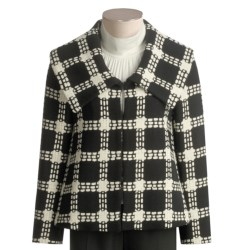 Austin Reed Wool Plaid Jacket - Portrait Collar (For Women)