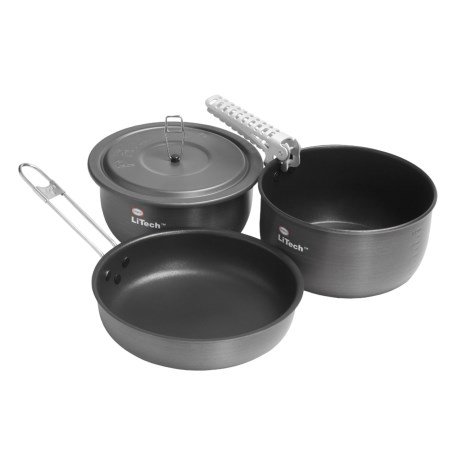 Primus Litech Super Cook Set - 3-Piece, Titanium Nonstick Coating