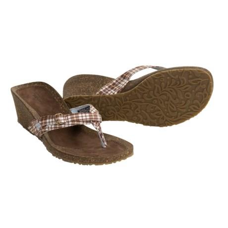 Teva Ventura Thong Wedge Sandals (For Women)