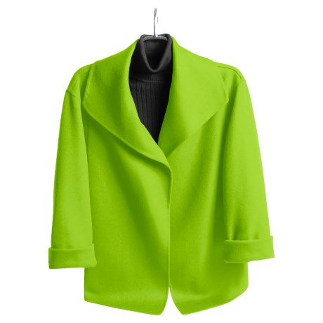Austin Reed Wool Plush Wrap Jacket - Open Front (For Women)