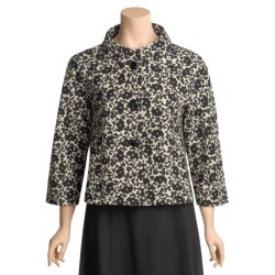 Austin Reed Modern Floral Jacket - Cotton-Rich, 3/4 Sleeve (For Women)