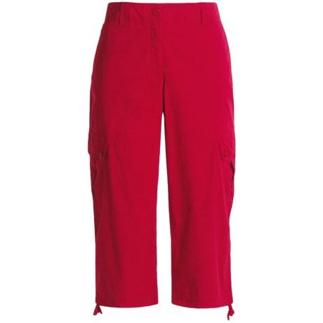 Renuar Cotton Poplin Capri Pants - Cargo (For Women)