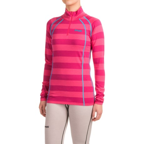 Bergans of Norway Fjellrapp Base Layer Top - Merino Wool, Zip Neck, Long Sleeve (For Women)