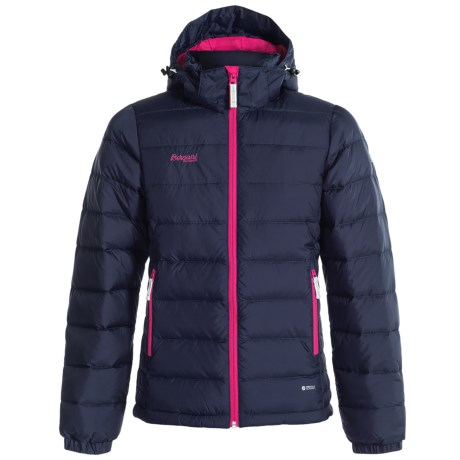 Bergans of Norway Hooded Down Jacket - 550 Fill Power (For Big Girls)
